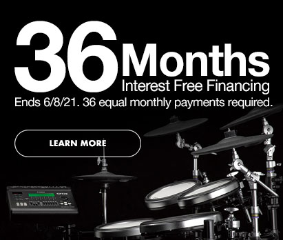 36 Months interest free financing. Ends 6/8/21. 36 equal monthly payments required. Click image to learn more.