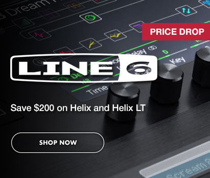 Save $200 on Line 6 Helix and Helix LT. Click image to shop now.