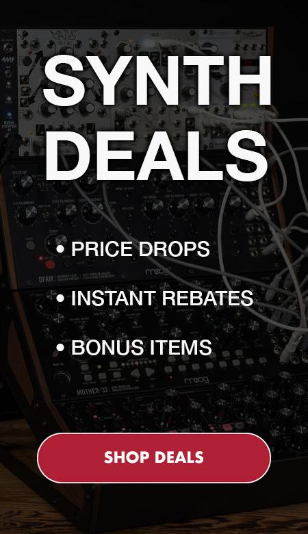 Synth Deals. Price Drops, instant rebates, bonus items. Click image to shop deals