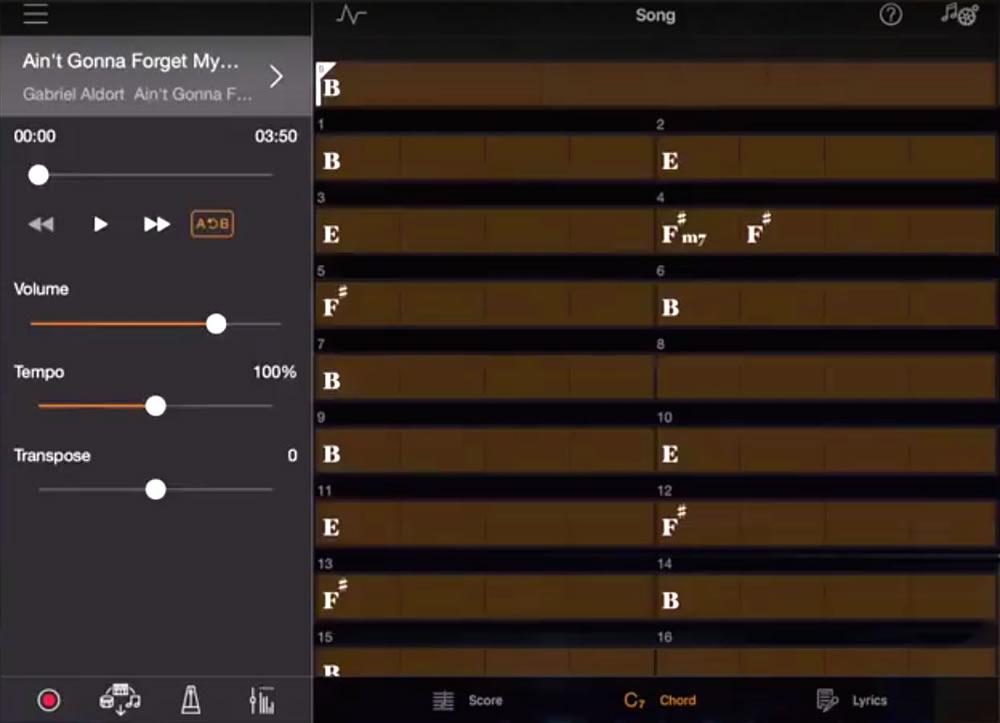 Smart Pianist 2.0 Chord Analysis Screen Shot