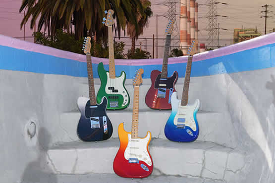 Group of Fender Player Plus guitars. Click image to navigate to Fender Announces the Addition of the Player Plus Series article