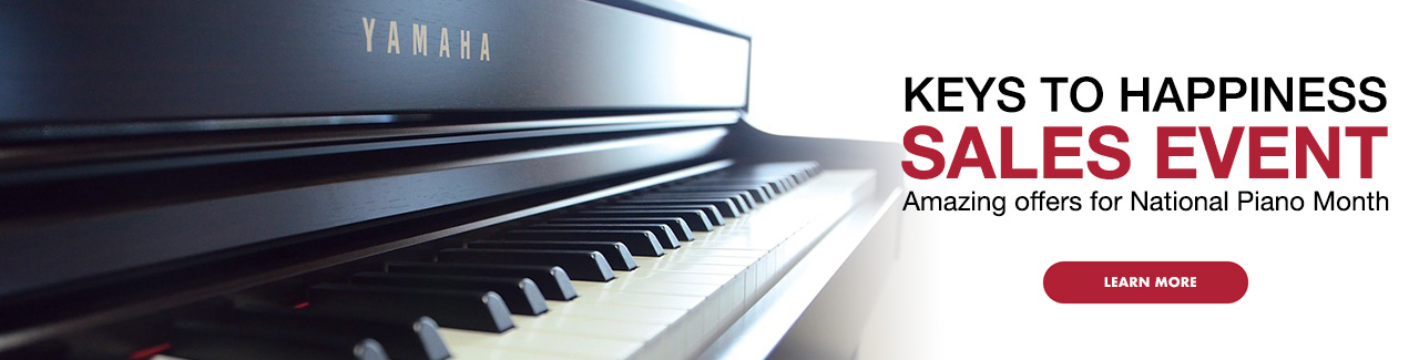 Keys To Happiness Sales Event. Amazing offers for National Piano Month. Click image to learn more
