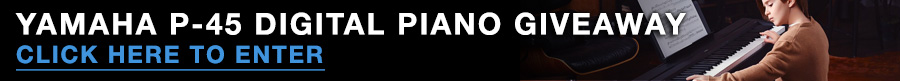 Yamaha P-45 Digital Piano Giveaway. Click image to navigate to entry page.