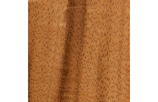 layered koa wood swatch showing typical color and grain pattern