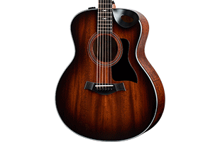 close-up front view of Taylor 326ce showing Grand Symphony body shape