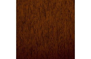 tropical mahogany wood swatch showing typical color and wood grain pattern
