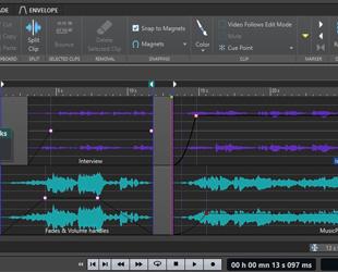Image of Steinberg WaveLab Cast editing window
