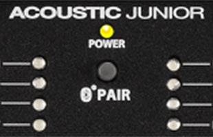 detail image of Fender Acoustic Junior showing Bluetooth pairing button