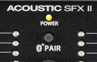 detail image of Fender Acoustic SFX II showing Bluetooth pairing button