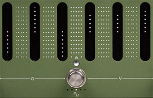 detail image of Darkglass Adam panel showing 6-band graphic equalizer touch slider controls