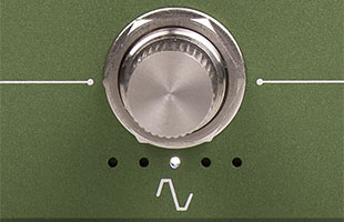 detail image of Darkglass Adam stomp switch with 5 mode indicator LEDs underneath