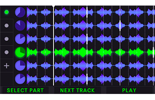 Singular Sound Aeros screen showing 6x6 mode