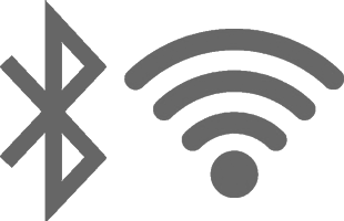 Bluetooth and wi-fi logos