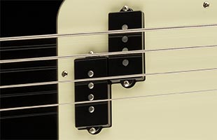 top detail image of Fender American Professional II Precision Bass showing pickup