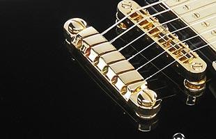 detail image of Ibanez AS53 Artcore Semi-Hollow Guitar showing Quik Change III tailpiece