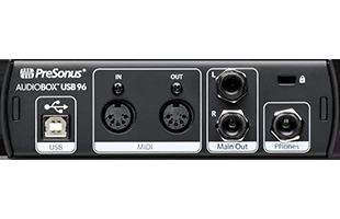 rear view of PreSonus AudioBox USB 96 25th Anniversary Edition