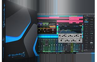 collage image showing PreSonus Studio One Artist box artwork and screenshot