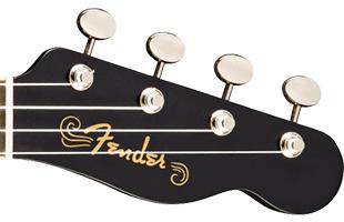 close-up view of Fender Billie Eilish Signature Ukulele headstock