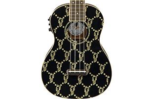 close-up top view of Fender Billie Eilish Signature Ukulele