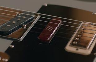 detail top image of Fender Brent Mason Telecaster showing pickups