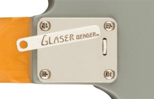 detail rear image of Fender Brent Mason Telecaster showing Glaser Bender system