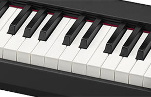 detail image of Casio CDP-S150 digital piano showing keybed