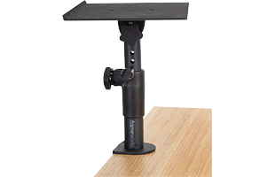 detail of Gator Frameworks Clamp-On Studio Monitor Stand showing height adjustment mechanism