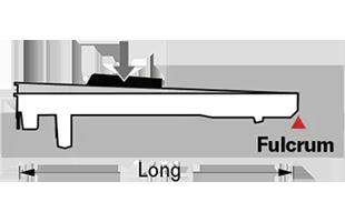 side cutaway diagram demonstrating Yamaha Grandtouch piano key mechanism
