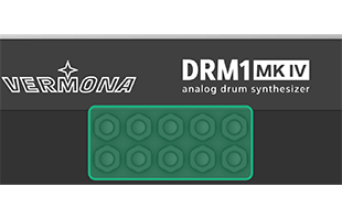 detail from diagram of Vermona DRM1 MKIV rear panel with highlighted individual trigger input connector jacks