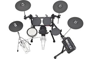 top view of Yamaha DTX6K2-X electronic drum set