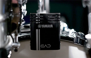 closeup of Yamaha EAD10 sensor mounted on kick drum