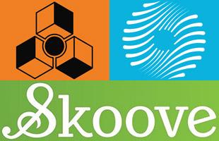 logo collage of software bundled with Korg EK-50 L including Reason Lite, iZotope Ozone Elements and Skoove