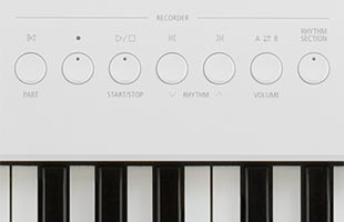 detail image of Kawai ES920 panel showing MP3 recorder control buttons
