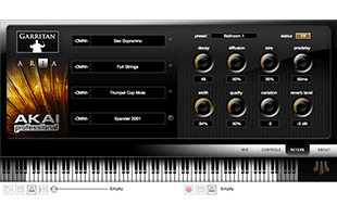 screenshot from Akai Professional EWI USB companion software showing sound parameter adjustment interface