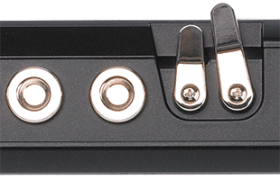 detail top view of Akai Profesional EWI USB showing wind instrument playing keys