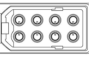illustration of eight parameter adjustment knobs on Akai Professional EWI5000