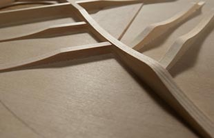 detail image of Yamaha Red Label acoustic guitar scalloped bracing construction