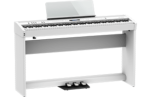 Roland FP-60X on optional KSC-72 stand with optional KPD-90 triple-pedal unit (both sold separately)