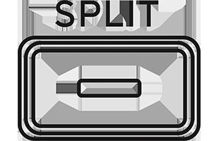 illustration of SPLIT button on Korg G1B Air Digital piano