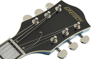 detail image of Gretsch G2622T showing top of headstock