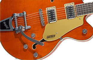 detail top image of Gretsch G5622T showing body