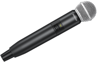Shure GLXD2 transmitter with SM58 capsule
