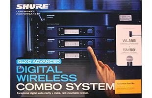Shure GLXD124R/85/SM58 retail box