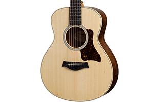 close-up view of Taylor GS Mini-e Rosewood showing GS Mini body shape