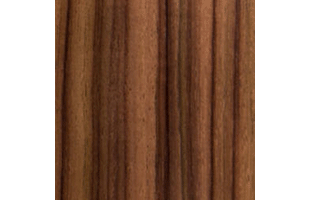 layered rosewood wood swatch showing typical color and wood grain pattern