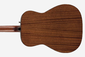Image of the back of a Fender CC-60S Guitar