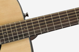 Image of the neck of a Fender CC-60S Guitar