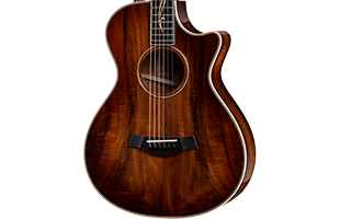 close-up front view of Taylor K22ce 12-Fret showing Grand Concert body shape