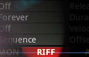 screenshot detail from Kurzweil K2700 with the word RIFF highlighted