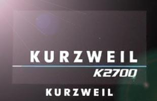 screenshot from Kurzweil K2700 showing startup logo splash screen